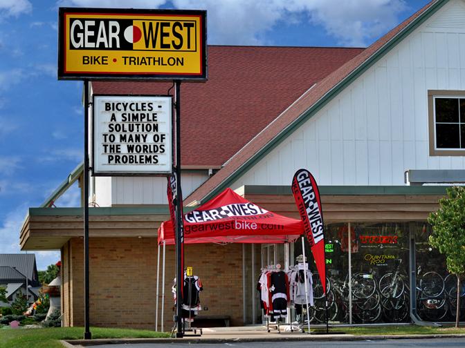Gear West Bike and Triathlon Storefront