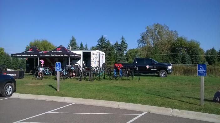 Trek Demo Bikes, Trailer, and Big Rig at Lebanon Hill Park